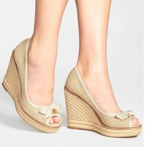 ToryBurch espadrille open toe wedges Jackie